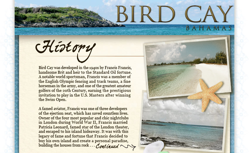 History of Bird Cay Island